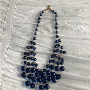 Spectacular J.Crew blue and gold necklace